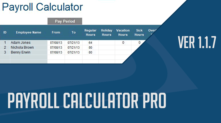 Payroll Calculator Support page