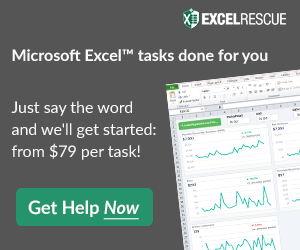 Spreadsheet123 official partner of Excel Rescue
