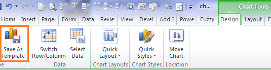Saving Chart Template Menu in Excel 2010