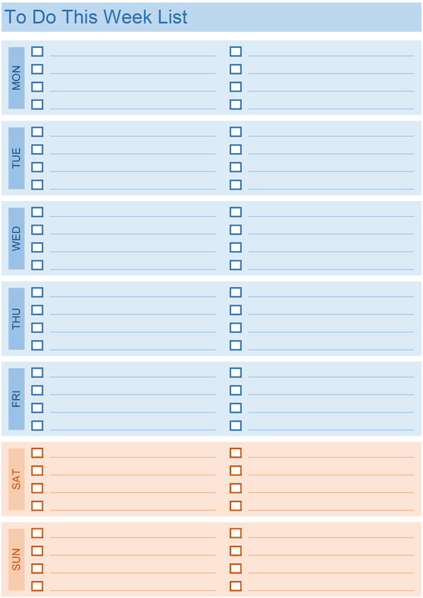 Daily To Do List  Daily Task Checklist Template