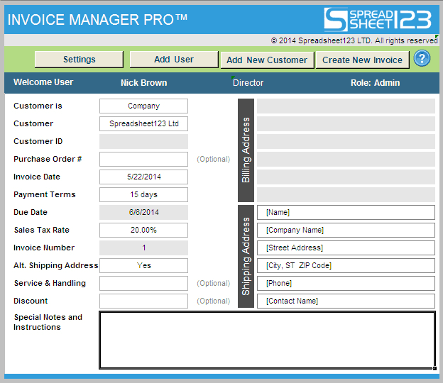 Invoice Manager Pro - Ultimate Invoicing Software for Excel