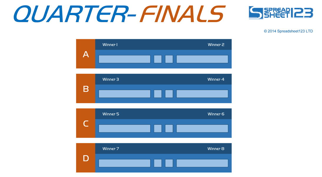 Football World Cup Bracket Free Template For Excel