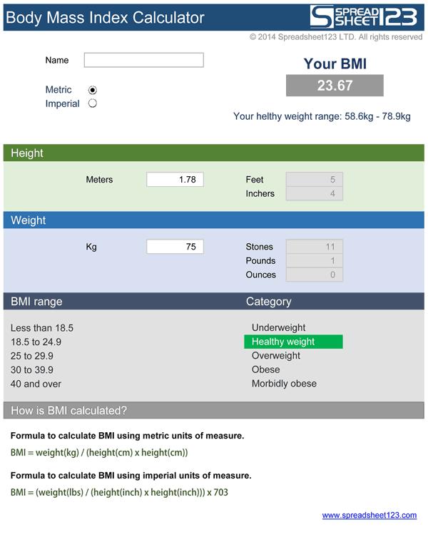Bmi calculator online