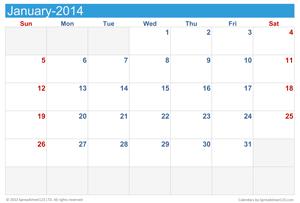 Monthly Calendar Screenshot