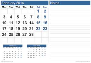 Calendar with Notes Screenshot