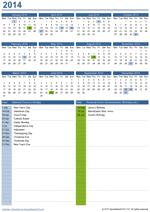 Perpetual Yearly Calendar