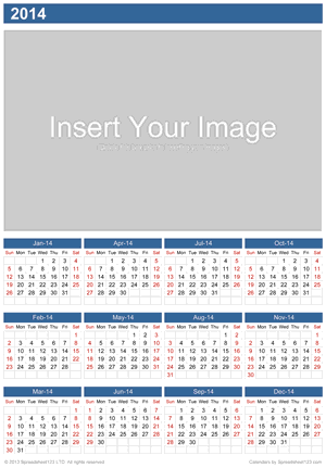 Yearly Photo Calendar Screenshot