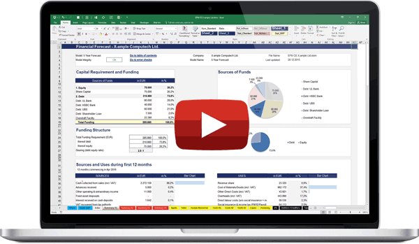 Excel Financial Model Introduction Video