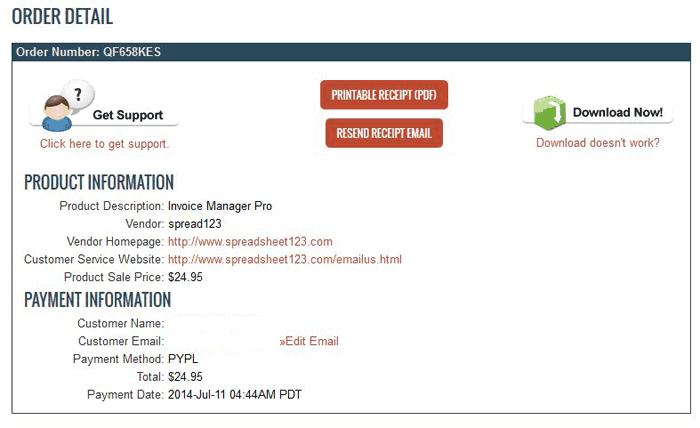 ClickBank Order Details