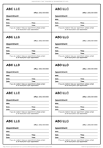 appointment cards template