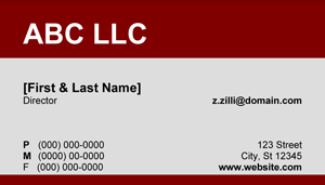 Red and Grey Business Card - 10.2 Screenshot