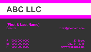 Pink, White and Grey Business Card - 10.3 Screenshot