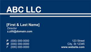 Blue Business Card - 10.5 Screenshot