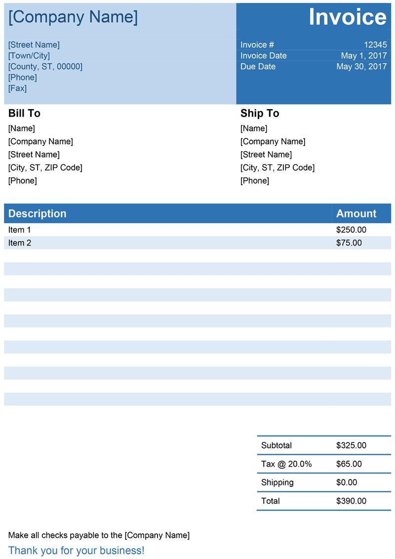 Invoice template for language courses  Debitoor invoice